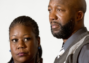 Sybrina Fulton and Tracy Martin, parents of Trayvon Martin/AFP
