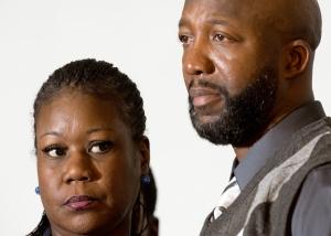 Sybrina Fulton and Tracy Martin, parents of Trayvon Martin/AFP