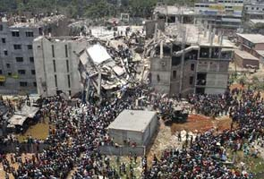 Collapsed building in Bangladesh