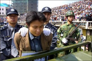 Public execution in China several years ago