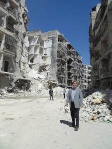 John Ging in Aleppo/OCHA G. Conell