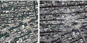 The conflict in Syria is resulting in massive human rights violations against the civilian population.© DigitalGlobe/Atrium/Analysis by AAAS