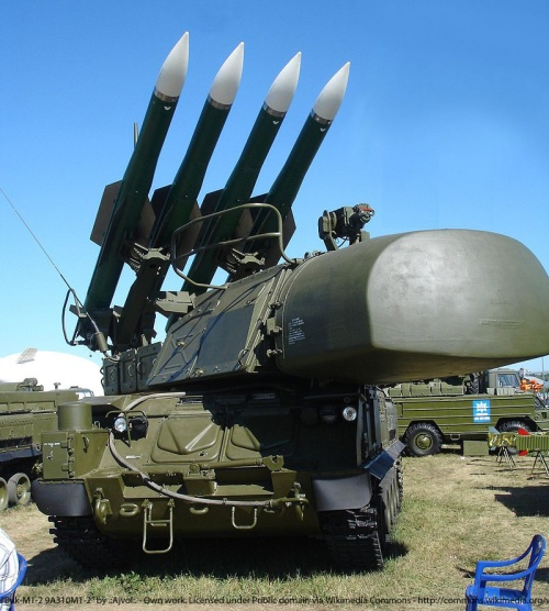 """Buk-M1-2 9A310M1-2"" by .:Ajvol:. - Own work. Licensed under Public domain via Wikimedia Commons - http://commons.wikimedia.org/wiki/File:Buk-M1-2_9A310M1-2.jpg#mediaviewer/File:Buk-M1-2_9A310M1-2.jpg"